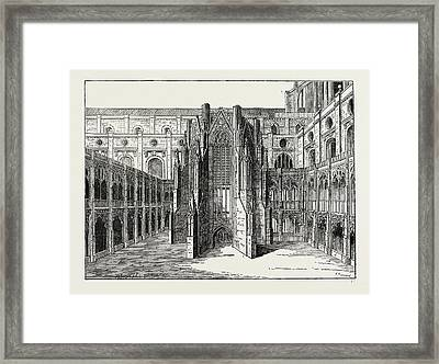 The Chapter House Of Old St. Pauls Framed Print