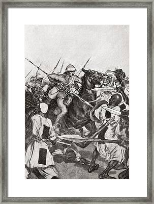 The Charge Of The 21st Lancers At Omdurman, Khartoum, Sudan During The Mahdist War In 1898.    From Framed Print