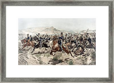 The Charge Of The Light Brigade, 1895 Framed Print