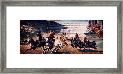 The Chariot Race 1882 Framed Print by Li   van Saathoff