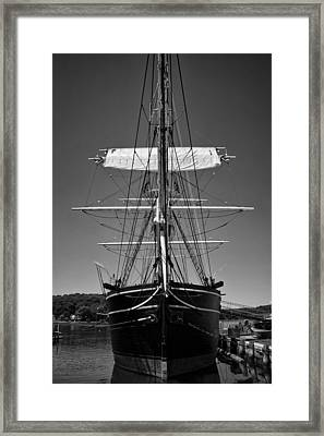 Framed Print featuring the photograph The Charles W. Morgan by Ben Shields