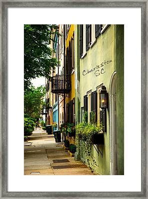 The Charm Of Charleston Framed Print
