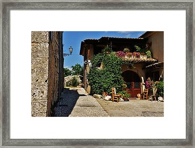The Charming Patio Framed Print by Dany Lison