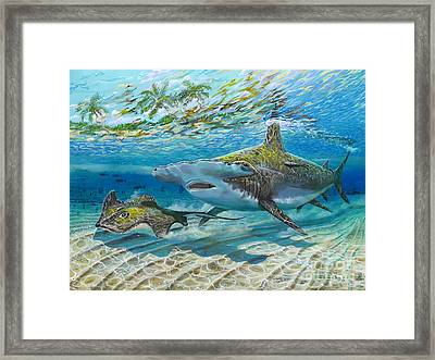 The Chase Framed Print by Carey Chen