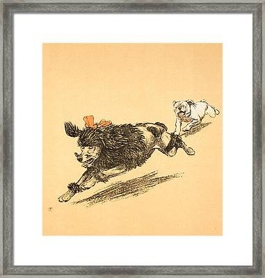 The Chase Framed Print by Cecil Charles Windsor Aldin