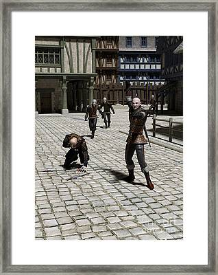The Chase - Continued Framed Print by Fairy Fantasies