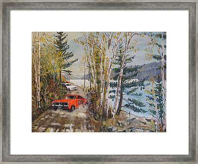 The Chase Framed Print by David Irvine
