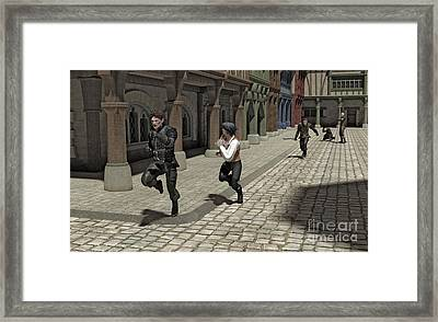 The Chase Framed Print by Fairy Fantasies
