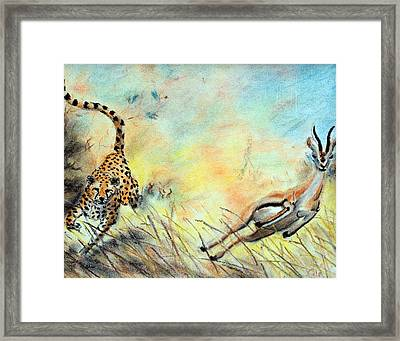 The Chase Is On Framed Print by Nathan Cole