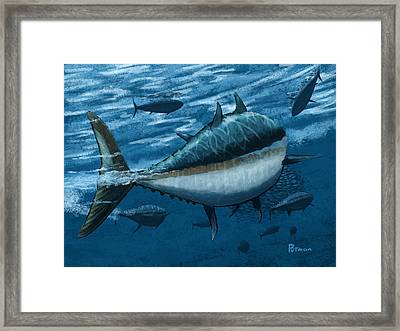 The Chase Framed Print by Kevin Putman
