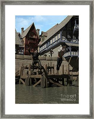 The Chase - Last Ditch Framed Print by Fairy Fantasies