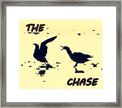 The Chase Framed Print by Pamela Hyde Wilson