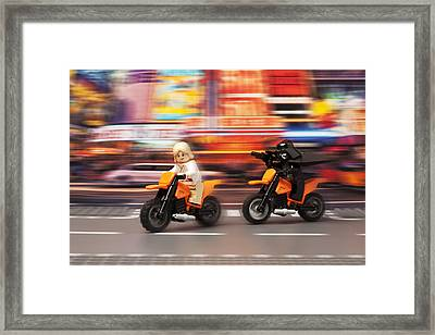 The Chase Framed Print by Samuel Whitton