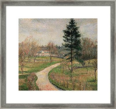 The Chateau At Busagny Framed Print by Camille Pissarro