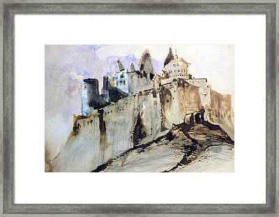 The Chateau Of Vianden Framed Print by Victor Hugo
