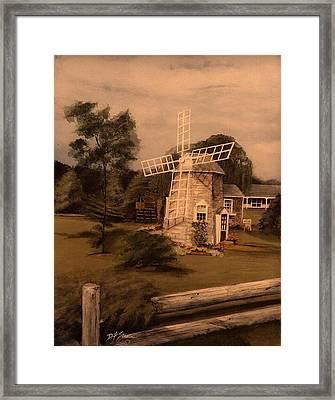 The Chatham Windmill Cape Cod Ma Framed Print by Diane Strain