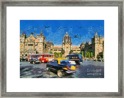 The Chatrapathi Station In Mumbai Framed Print