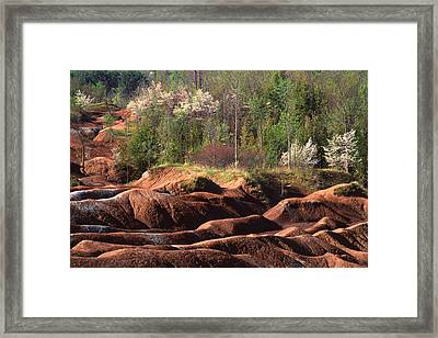 Framed Print featuring the photograph The Cheltenham Badlands by Gary Hall