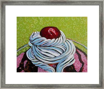 The Cherry On Top Framed Print