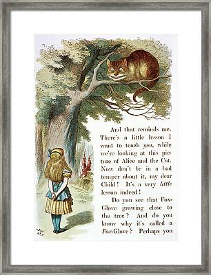 The Cheshire Cat Framed Print by British Library