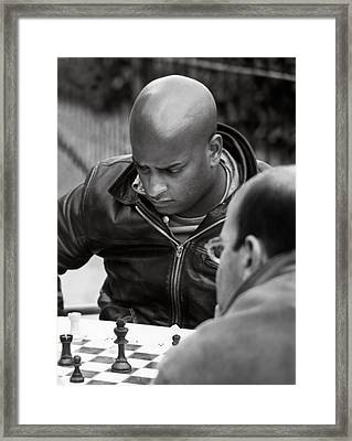 The Chess Player Framed Print by Bernard  Barcos
