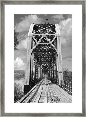 The Chicago And North Western Railroad Bridge Framed Print by Mike McGlothlen