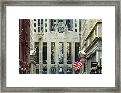 The Chicago Board Of Trade, Chicago Framed Print