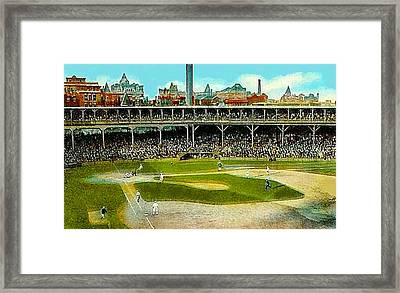 The Chicago Cubs West Side Grounds Stadium In 1913 Framed Print