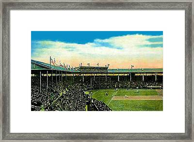 The Chicago Cubs Wrigley Field Around 1920 Framed Print by Dwight Goss