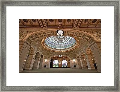 The Chicago Cultural Center Framed Print by John Babis