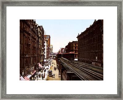 The Chicago El Framed Print by Georgia Fowler