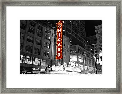 The Chicago Theatre Framed Print by Jerome Lynch