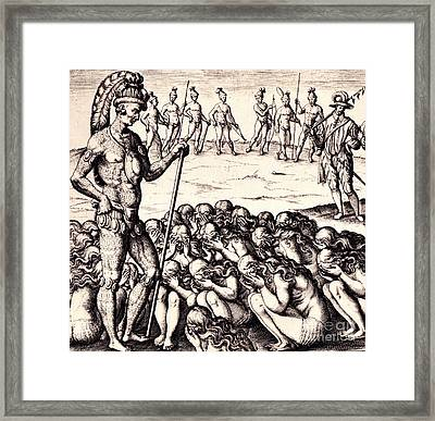 The Chieffe Applyed To By Women Framed Print by Peter Gumaer Ogden