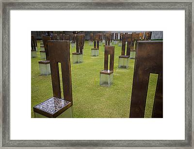 The Child's Chair Oklahoma City Memorial Framed Print by Mary Lee Dereske