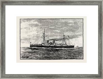 The Chilian Cruiser Esmeralda Framed Print by English School