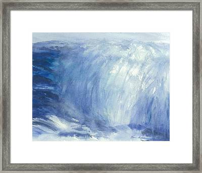 The Chill Of The Winters Sea Framed Print by Karen  Condron