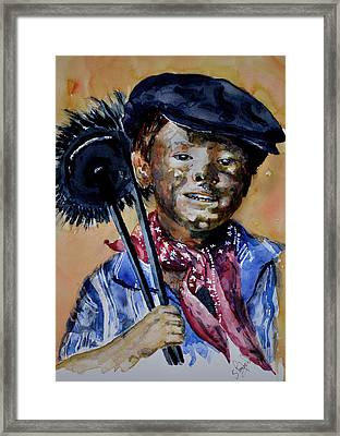 Framed Print featuring the painting The Chimney Sweep by Steven Ponsford