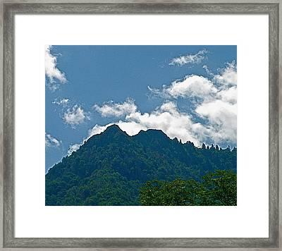 The Chimney Tops Framed Print