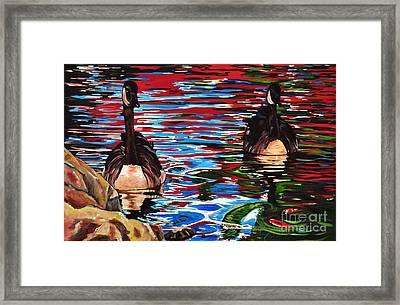 The Chincgacousy Lovers 2 Framed Print by Henny Dagenais