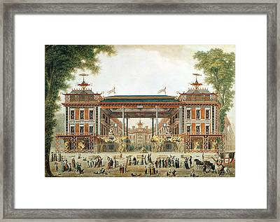 The Chinese Baths In Paris, Established By Lenoir Wc On Paper Framed Print by French School