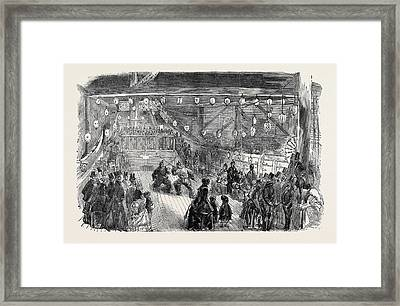 The Chinese Junk Illuminated Framed Print