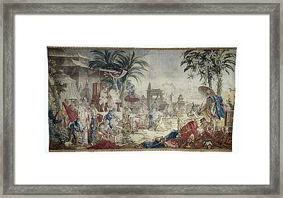The Chinese Market, Manufacture Royale De Beauvais Framed Print by Quint Lox