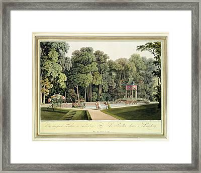 The Chinese Pavilion In The Laxenburg Framed Print by Laurenz Janscha