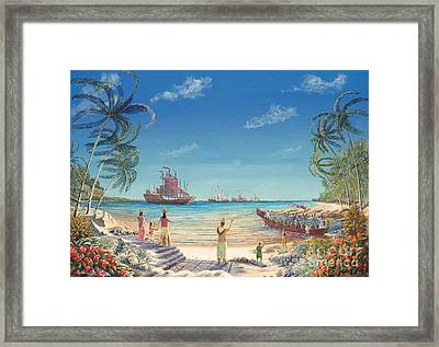 The Chinese Treasure Fleet Arrives Framed Print