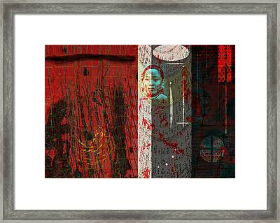 The Chinese Window Framed Print by Maria Jesus Hernandez