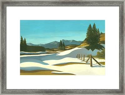 The Chinook Wind Blows Framed Print by Michael Swanson