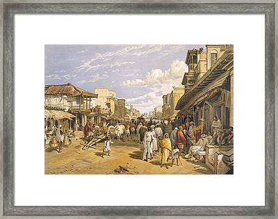 The Chitpore Road, From India Ancient Framed Print by William 'Crimea' Simpson