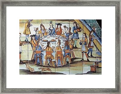 The Chocolatada. 1710. Glazed Tile Framed Print by Everett