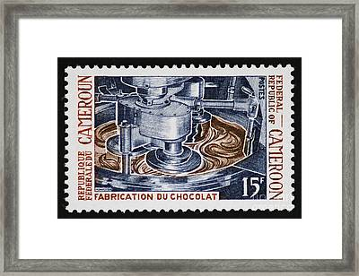 The Chocolate Factory Vintage Postage Stamp Framed Print by Andy Prendy