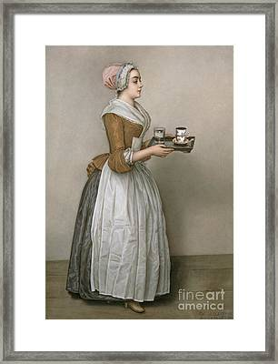 The Chocolate Girl Framed Print by Jean-Etienne Liotard